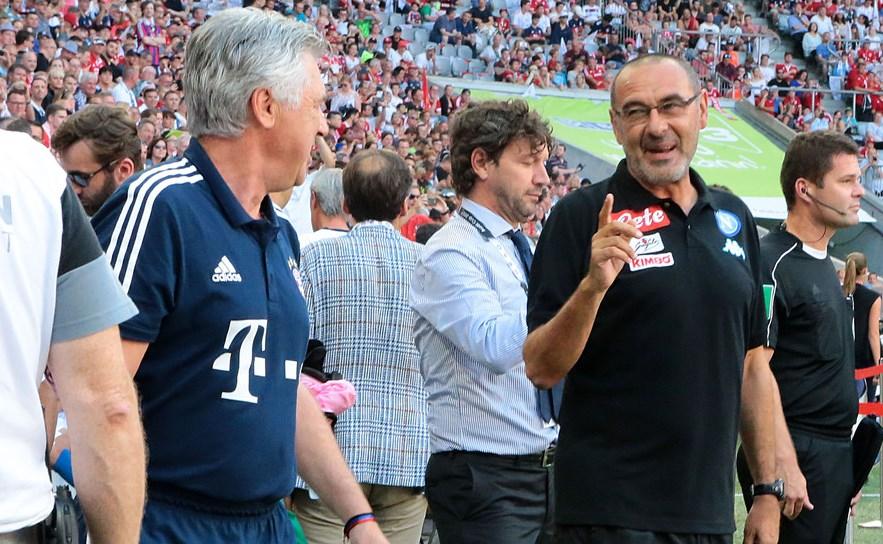 Carlo Ancelotti e Maurizio Sarri