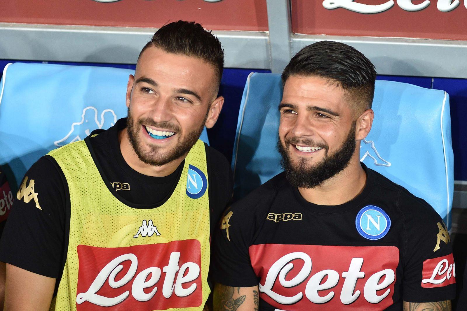 Roberto e Lorenzo Insigne col Napoli