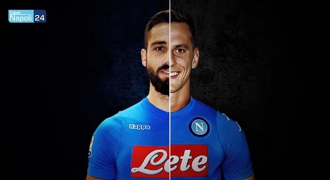 Pavoletti al Napoli, il primo saluto ai tifosi con la maglia azzurra