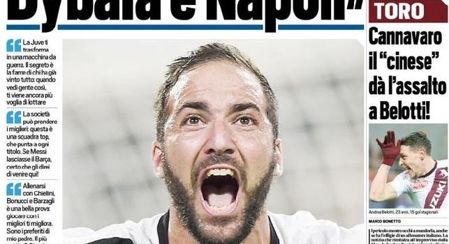 Higuain sull'addio a Napoli: